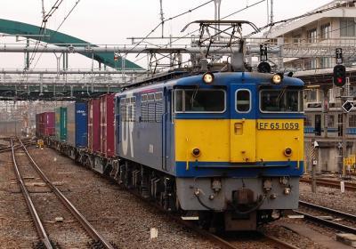3066レ EF65-1059+コキ