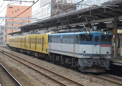 9674レ EF65-1066[新]+西武新101系 近江鉄道甲種 西国分寺にて