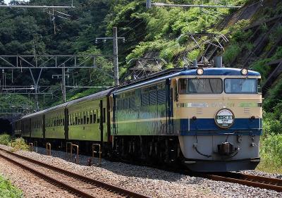 9821レ EF65-501+旧客4B+EF64-1001 快速レトロ横濱1号 小田原行