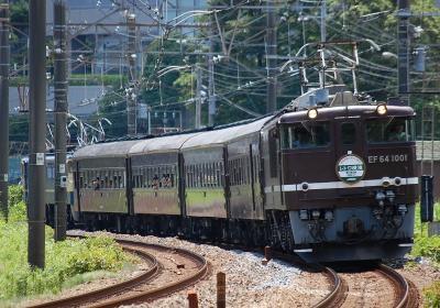 9822レ EF64-1001+旧客4B+EF65-501 快速レトロ横濱2号 横浜行
