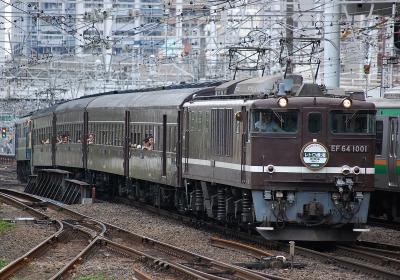 9824レ EF64-1001+旧客4B+EF65-501 快速レトロ横濱4号 横浜止