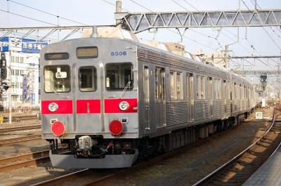 9878レ EF65-1094+長野電鉄8500系8505F+8506F(元東急8624F) 後撃ち