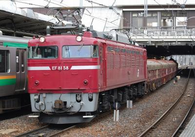 5781レ EF81-58+トキ+タキ