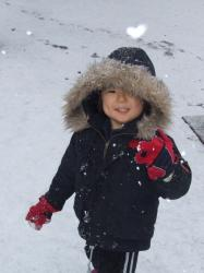 2008年1月23日ハート雪