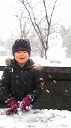 2008年1月23日雪だるま君