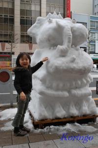2009年1月18日雪だるま