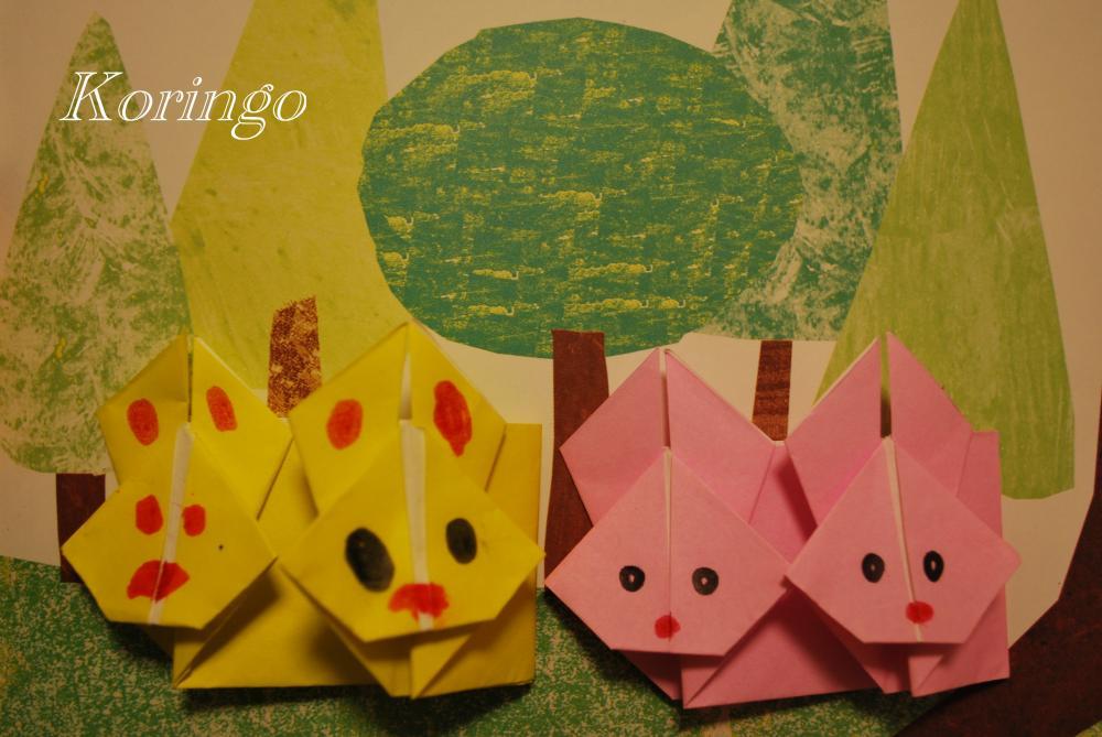 うさぎとかめ うさぎの ... : 折り紙のかぶとの作り方 : 折り紙の