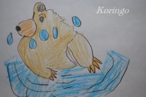 2009年2月18日絵本の絵 クマ