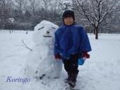 2009年2月27日雪だるま