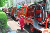 2009年4月20日消防車の列