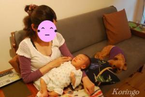2009年5月31日ママを見つめる