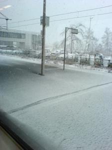 雪景色ホーム