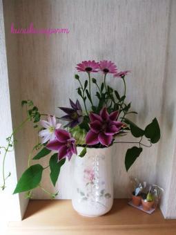 花瓶の花090429