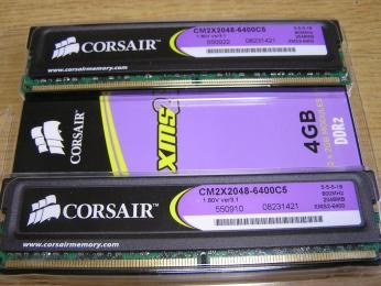 08メモリ CORSAIR TWIN2X4096-6400C5G
