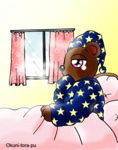 クマさんまだ眠い