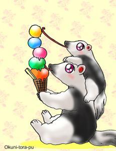 アリクイさん・アイスを舐める