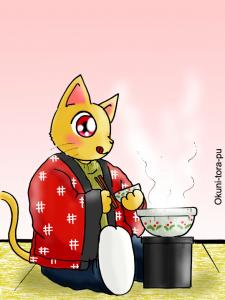 ネコ鍋ならぬ猫が鍋