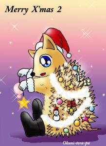 クリスマス~ハリネズミサンタ2