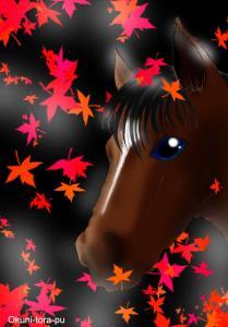 お馬ちゃんと紅葉