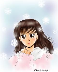 女の子1~雪の結晶