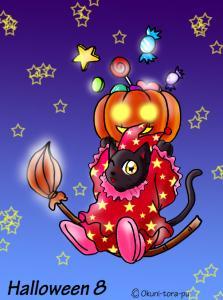 ハロウィン~お菓子とかぼちゃねこ8