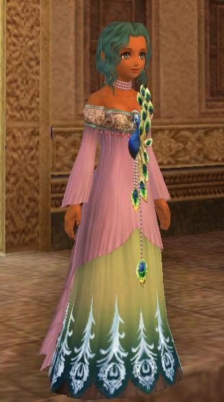 孔雀ドレス