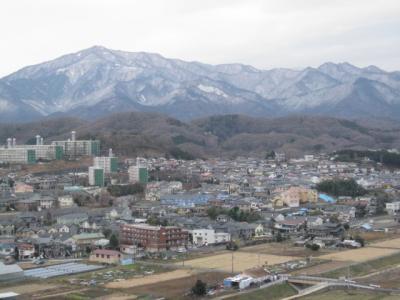 大山も雪化粧