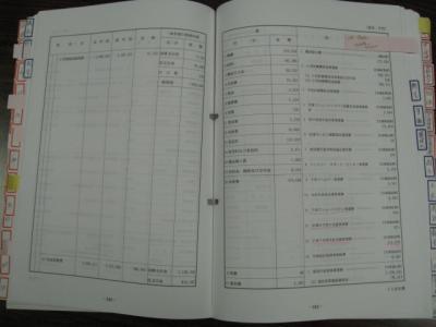 予算書ページ