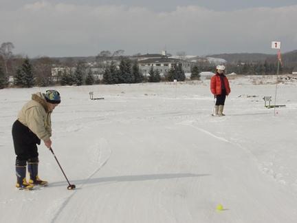 雪上パークゴルフ