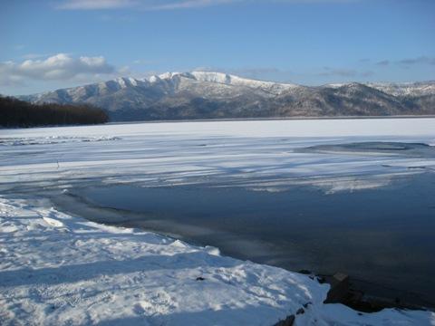 1月29日の屈斜路湖