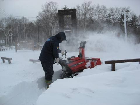 活躍する除雪車