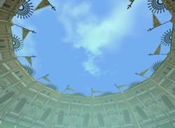 コロッセオ(だっけ)風なのか天井がら空き 上見るか下見るかで結構雰囲気が違う