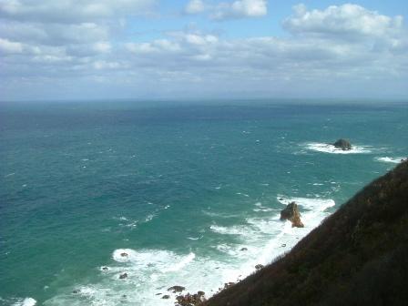 窓岩リッジから小樽の海~。