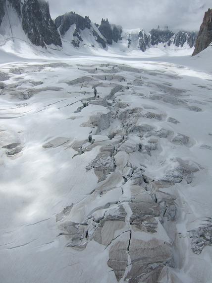 崩壊した氷河