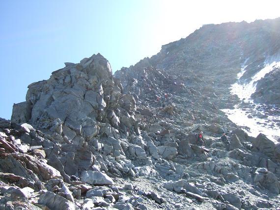 グーテ小屋までの岩稜帯