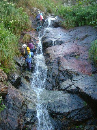 上流部の滝
