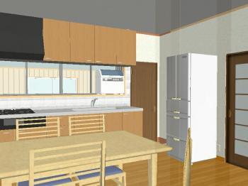 キッチンプラン3D