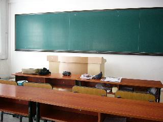 中国:留学生の教室~黒板