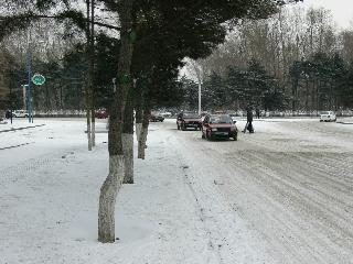 長春:立春すぎたのにまた雪