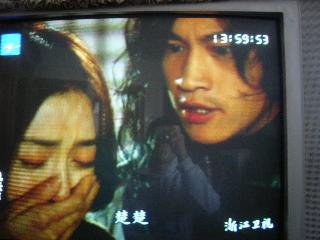右:歩jin雲。主人公の内の一人。nie風の兄。左:楚楚。歩jin雲の妻。弱い。