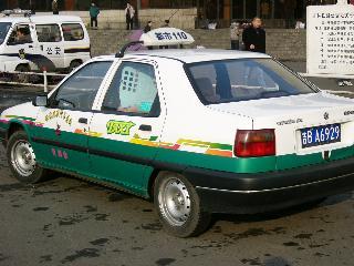 吉林のタクシー(シトロエン)