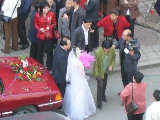 花嫁の記念撮影