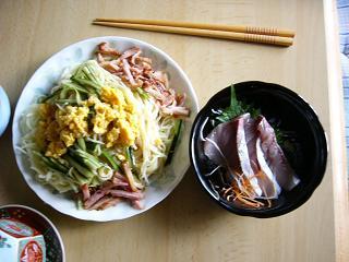 昼食べた冷麺