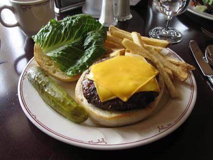 バッファローのハンバーガー