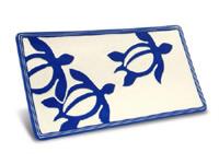 ジェフリーハワイアン陶器の食器 長方形皿 ホヌ
