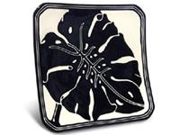 ジェフリーハワイアン陶器の食器 正方形皿 モンステラ