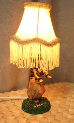 ハワイアン雑貨 フラガールテーブルランプ