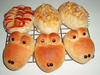 今日焼いたパン