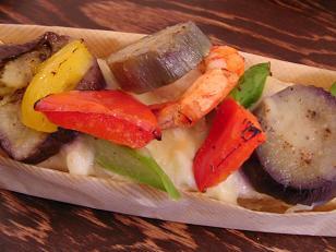 パスト 海老と季節野菜のブルスケッタ2