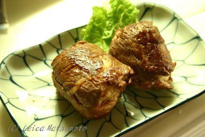 肉巻きおにぎりを作ってみた(^‐^)